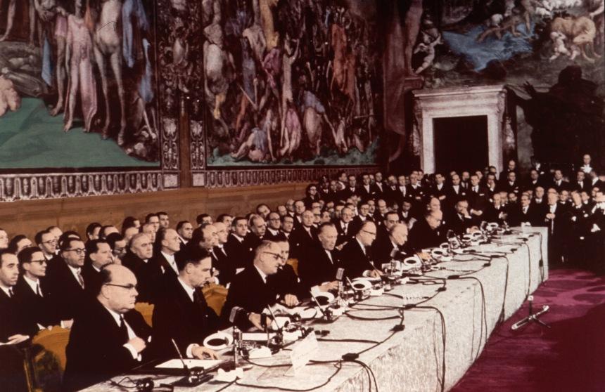 Signature of the Treaty of Rome