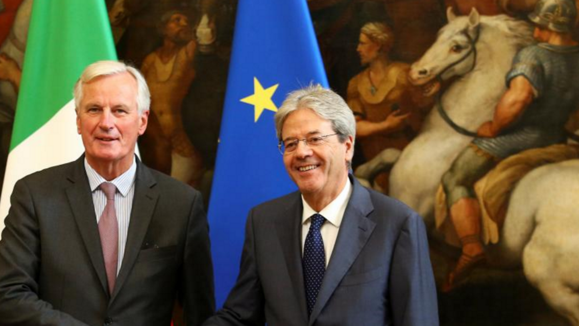 Barnier waits for commitment from May's in Florence