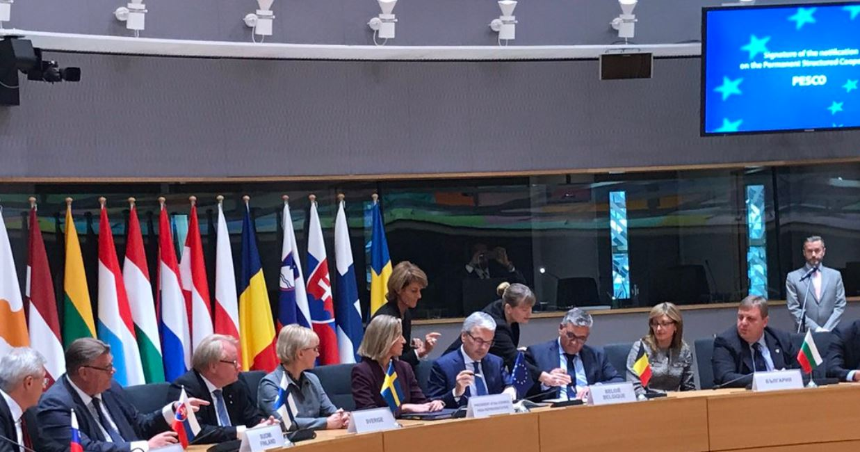 "Mogherini claims ""historic day"" for EU defence"