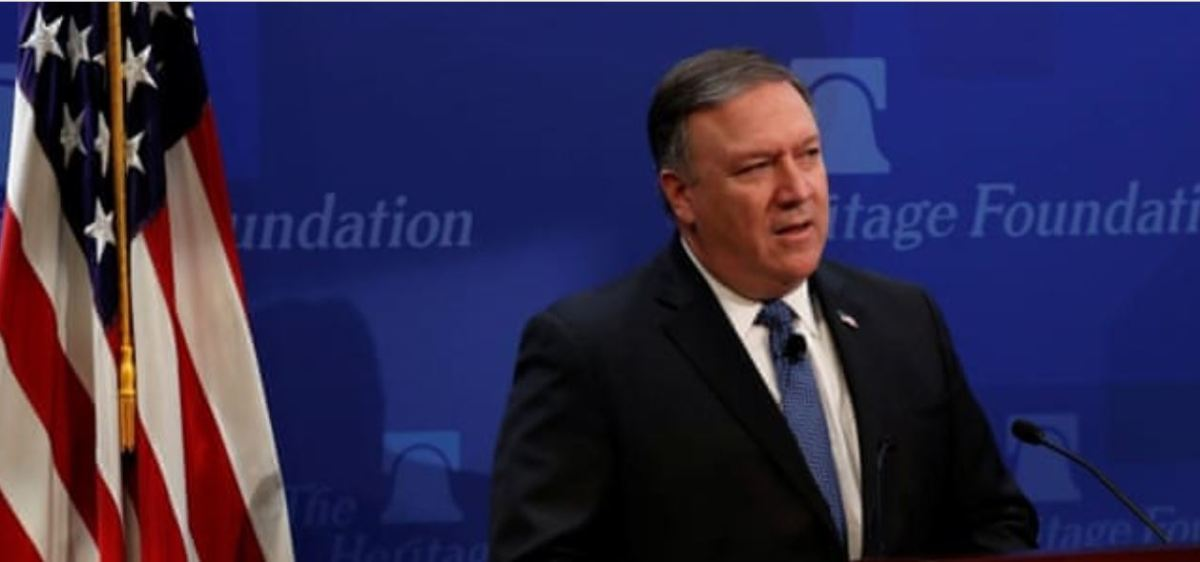 "Pompeo vows ""strongest"" sanctions against Iran"