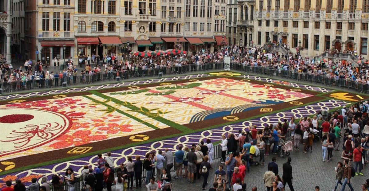 Mexico flower carpet at Brussels Grand Place