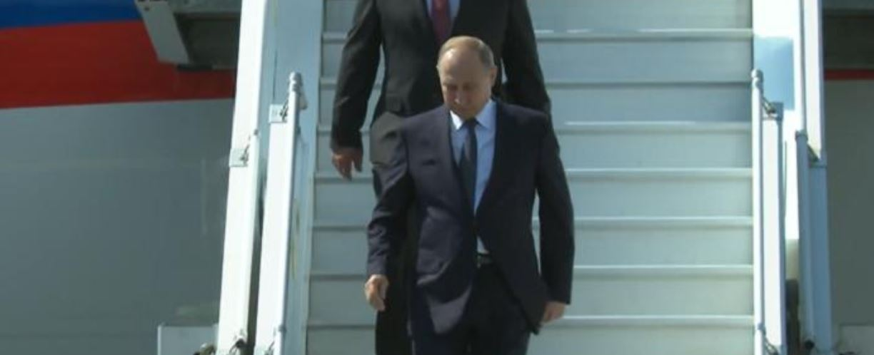 Putin arrived to Helsinki