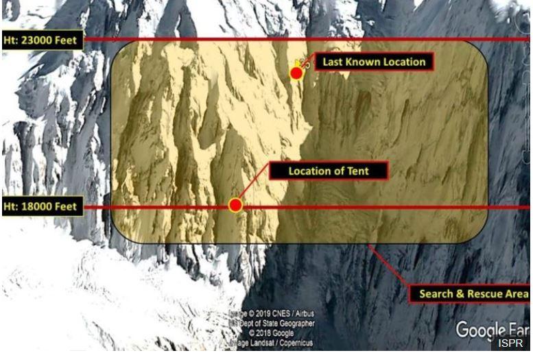 Nanga Parbat map