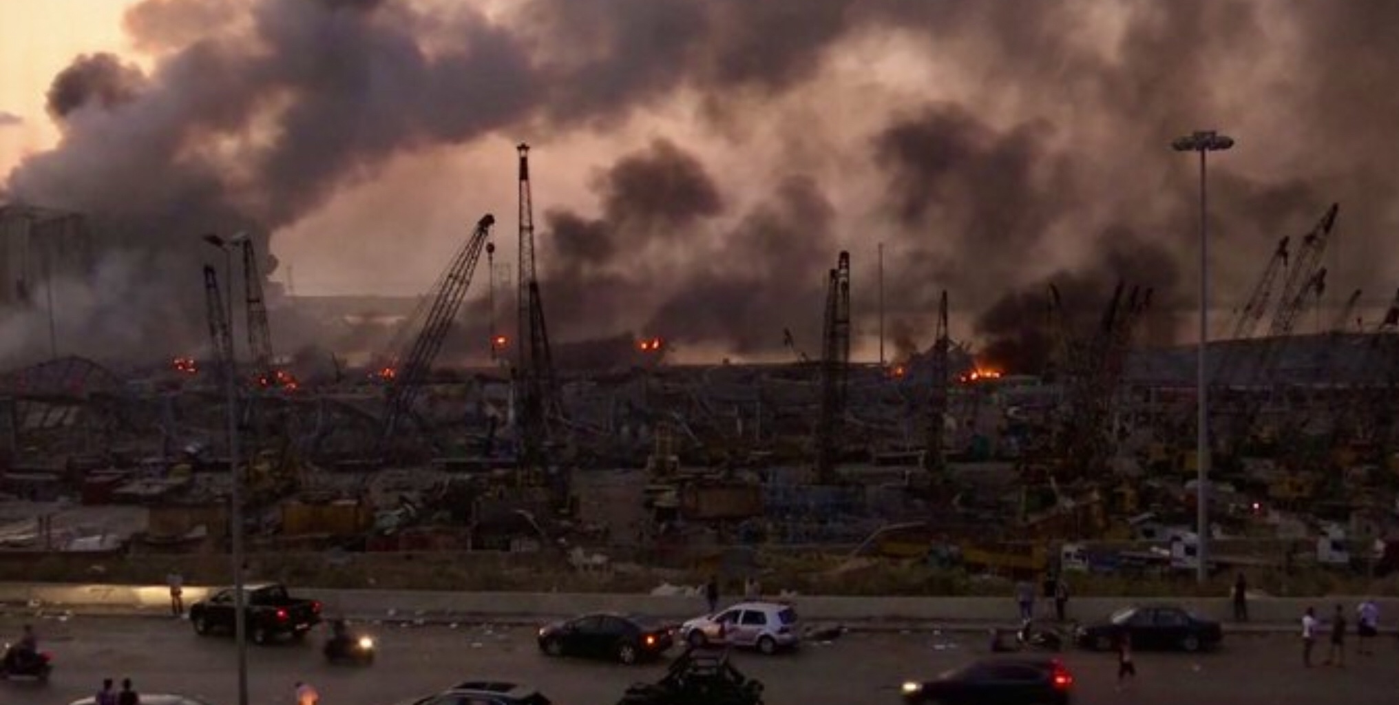 Beirut port destoyed by massive explosion