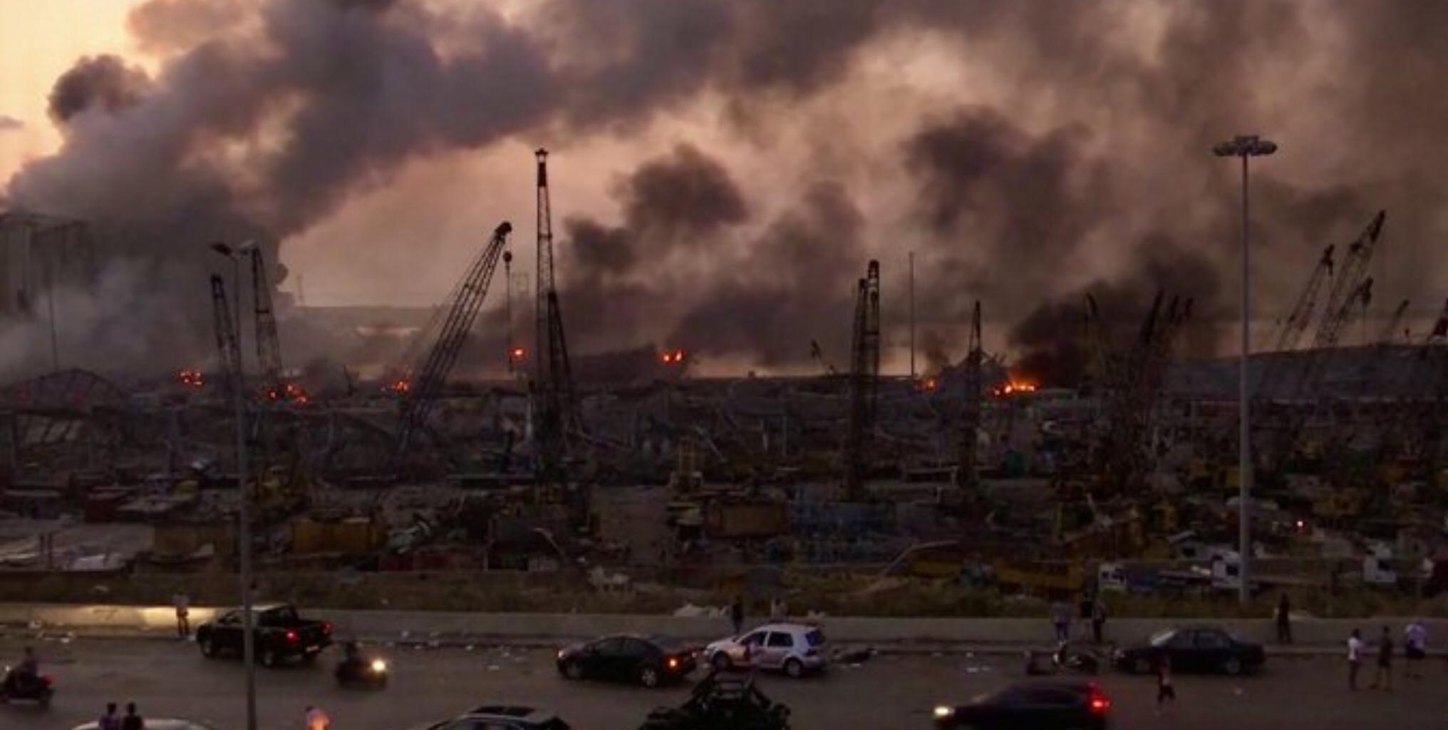 Beirut port destoyed by massive explosion