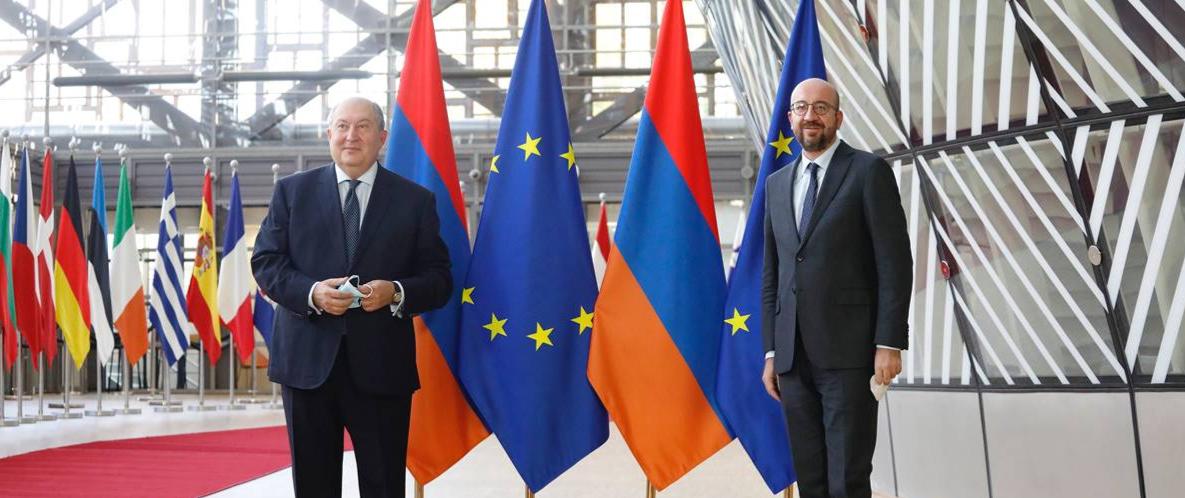 Armenia President visits Brussels