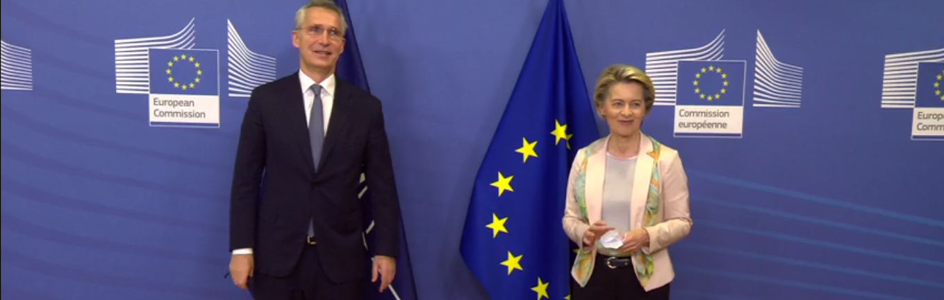Leyen hosts meeting with Stoltenberg