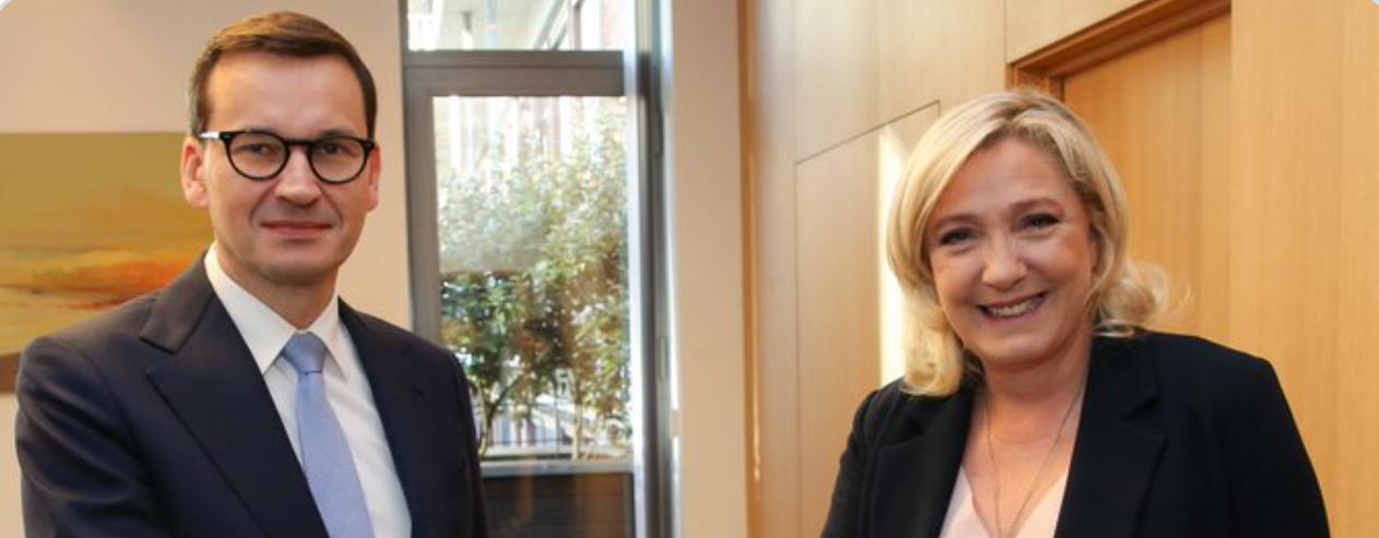 Brussels: Marine Le Pen supports Morawiecki